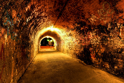 Ballarat - tunnel under the rail line
