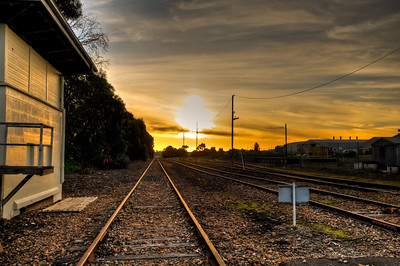 Sunsetting on the Mount Gambier Rail Yards