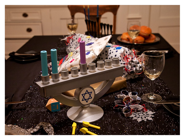 Our Chanukah Table with Kid-Friendly Menorah