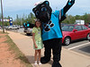 Bayley with Sir Purr (Panthers Mascot)
