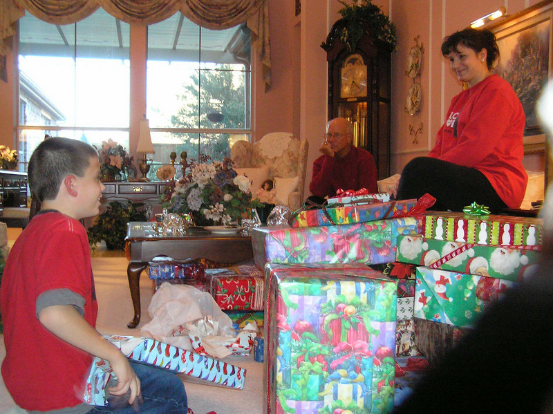 Now over to the Jones' for more gifts.