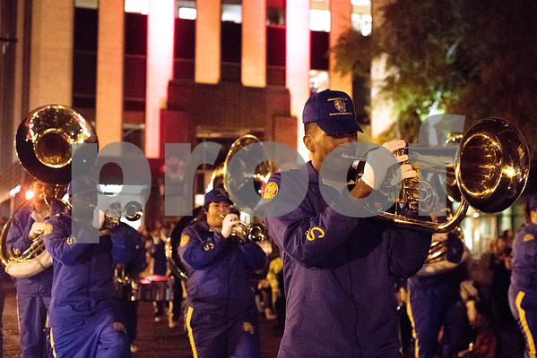 The Christmas parade in Tyler, Texas, on Thursday, Nov. 30, 2017. Thousands came to watch the parade and see the Christmas tree light up for the first time on T.B. Butler Fountain Plaza. (Chelsea Purgahn/Tyler Morning Telegraph)