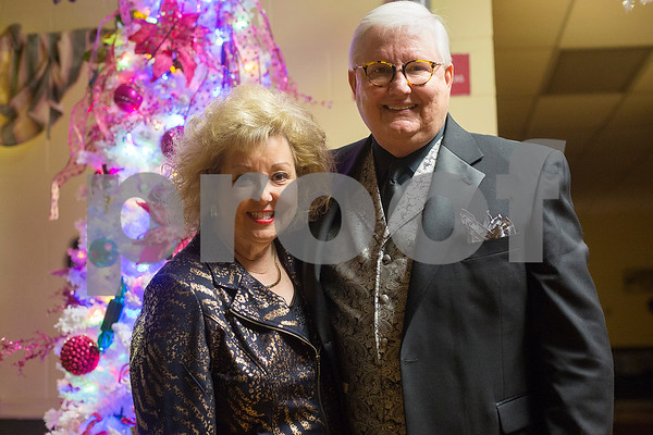 Kay and Patrick Odom during a New Year's party at the Tyler Senior Center in Tyler, Texas, on Friday, Dec. 29, 2017. Guests enjoyed a dinner made up of traditional New Year's foods and danced to live music. (Chelsea Purgahn/Tyler Morning Telegraph)