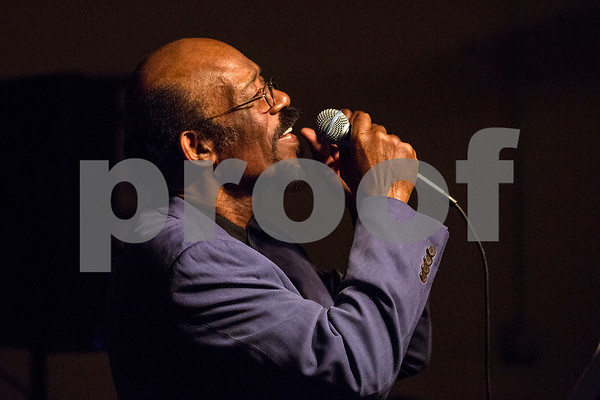 Otis Webster sings during a New Year's party at the Tyler Senior Center in Tyler, Texas, on Friday, Dec. 29, 2017. Guests enjoyed a dinner made up of traditional New Year's foods and danced to live music. (Chelsea Purgahn/Tyler Morning Telegraph)