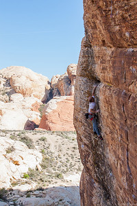 Porter on Loki 5.12a, Sonic Youth Wall Red Rocks