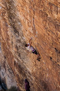 Craig on Anent Orange 5.12b, Sonic Youth Wall Red Rocks