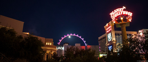 Las Vegas in the full moon
