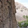 Me climbing a 5.12 in Owens river gorge<br /> Photo By Chris Pegelo