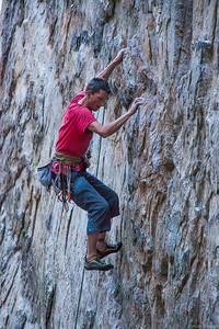 Me on another cool granite sport route inn Pine Creek, Bishop
