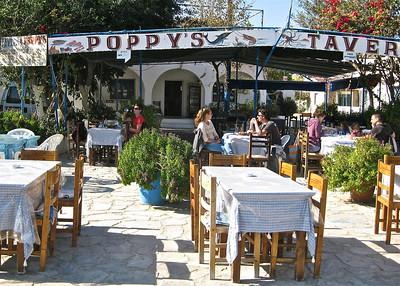 Poppy's taverna in Vathy, best calamari I've tasted.