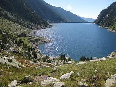 The Cavellars dam from the Marmot trail