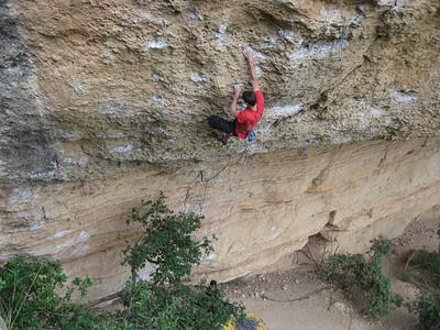 Adam on 7c at Margalef