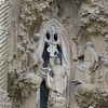 The nativity facade of the Sagrada Familia - this facade depicts the b9irth of Jesus and is designed to inspire feelings of joy (versus the gloomy feel of the the passion facade)