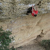 Adam on a 7c at Margalef