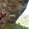 Adam on 7c at Margalef