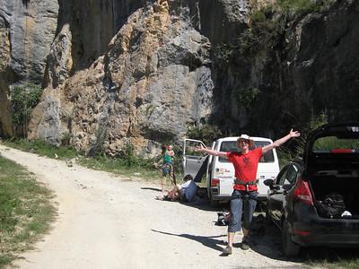 First day climbing at Abella de la Conca