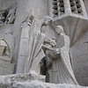 The Passion Facade of the Sagrada Familia - this facade depicts the death of Jesus. It is fashioned to resemble bones and 'death'.