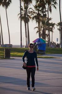 Cath strolling along Venice Beach