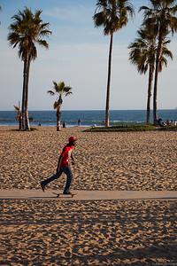 Skater on Venice beach