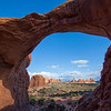 View of the windows area from Double Arch Arches National Park