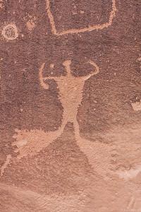 Big foot lives - Petroglyphs at the start of Indian creek.
