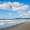 Cath enjoying the sun on Stinson beach just outside San Fran