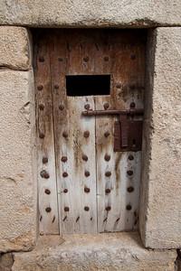 Prison cell door in Abella