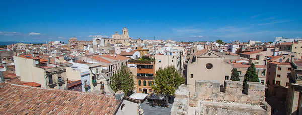 View from the top of the old Wall of Tarragona