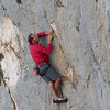 Duncan with a photo approved top climbing in Abella de la Conca