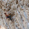 Duncan crushing on Occident 7c at Terradets