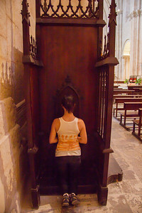 Cath repenting for her sins - we were her for a while!!