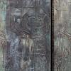 Intricately carved door at Sagrada Familia