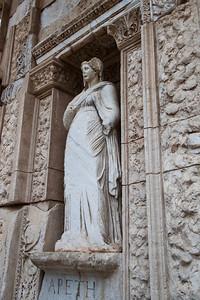 Statue demonstrating early lobotomy practice. Ephesus