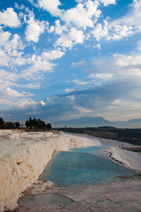 Cotton Castle or Travertine pools at Pamukkale