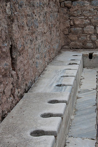 Public toilets, have a chat while you have a crap, Ephesus