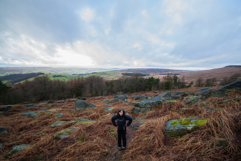 Cath at Stanage
