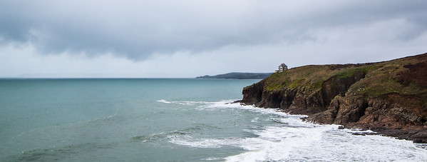 The spectacular coast off Cornwall