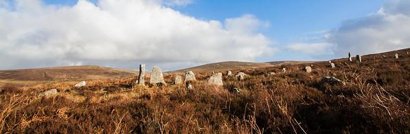 Stone Row near Birch Tor, Dartmoor