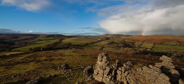 Beautiful day at Hound Tor on Dartmoor