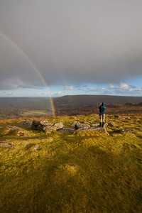 Dave photographing the beautiful day at Hound Tor on Dartmoor