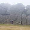 Spot the fool hardy climbers at Hay Tor, and yes I joined them!