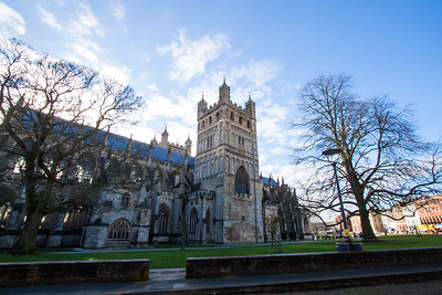 The Cathedral in Exeter