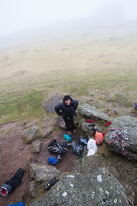 Cath experiencing the true english climbing weather