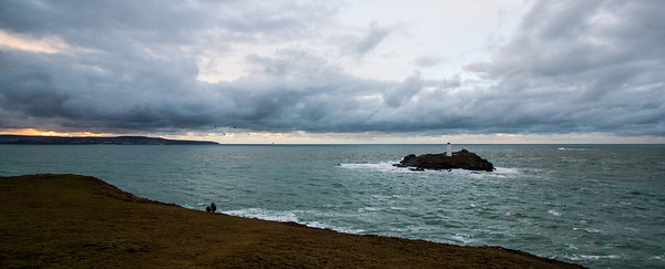 The spectacular Godrevy Lighthouse off the coast of Cornwall