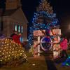 Townspeople walk amongst some of the Christmas lights decorating Lunenburg Town Center after the lighting of the Town Christmas Tree on the Common. SENTINEL&ENTERPRISE/ Jim Marabello