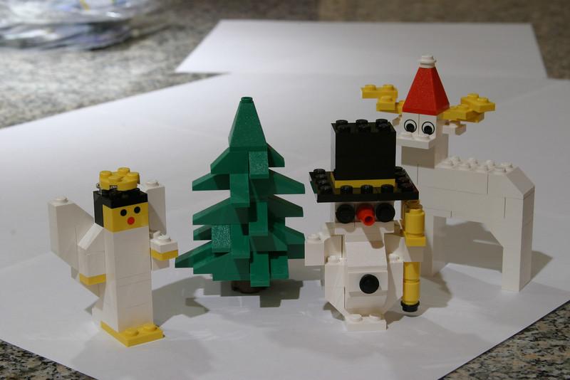 Christmas Lego, on tripod