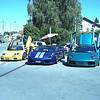 LAMBORGHINI Diablo, Gallardo et Murcielago sur parking vendeur auto suisse