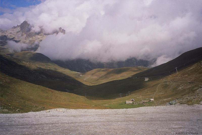 Col du GLANDON depuis le col de la Croix de Fer