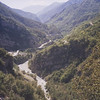 Descente dans la vallée de la VIONENE vers Saint SAUVEUR sur TINEE