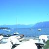 Lac LEMAN - Premiers sommets des Alpes françaises dominant le lac